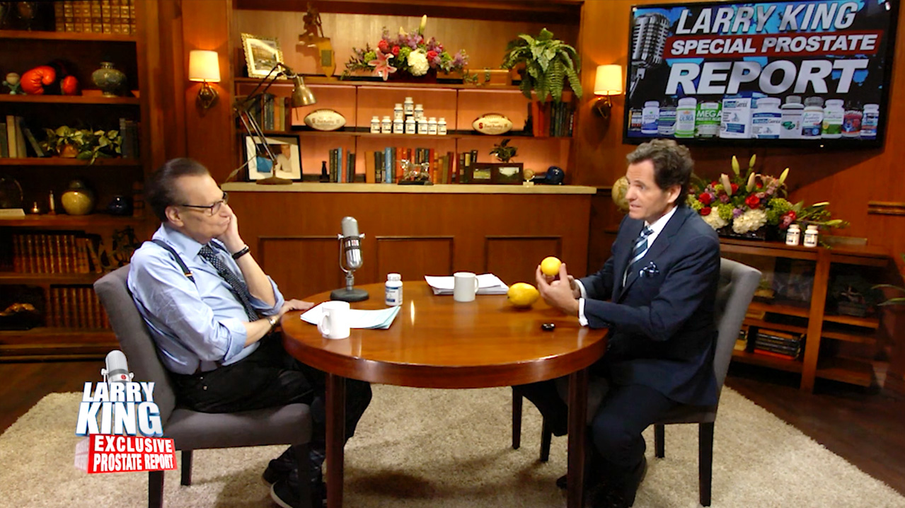 larry king and fred buckley ProstaGenix Interview Photo