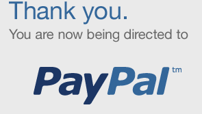 redirecting you to PayPal